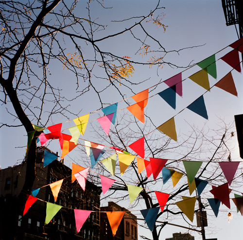 winter flags (east village, new york) by youngna park