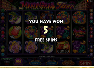 free Mardi Gras Fever gamble free spins
