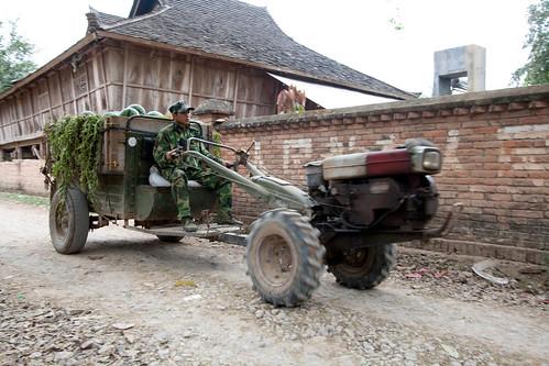 Watermellon tractor