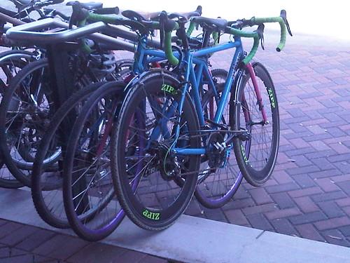 @geekhousebikes team bikes oustide at NAHBS