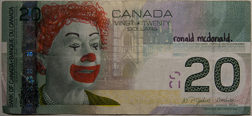 Flickr Defaced Currency Ronald McDonald