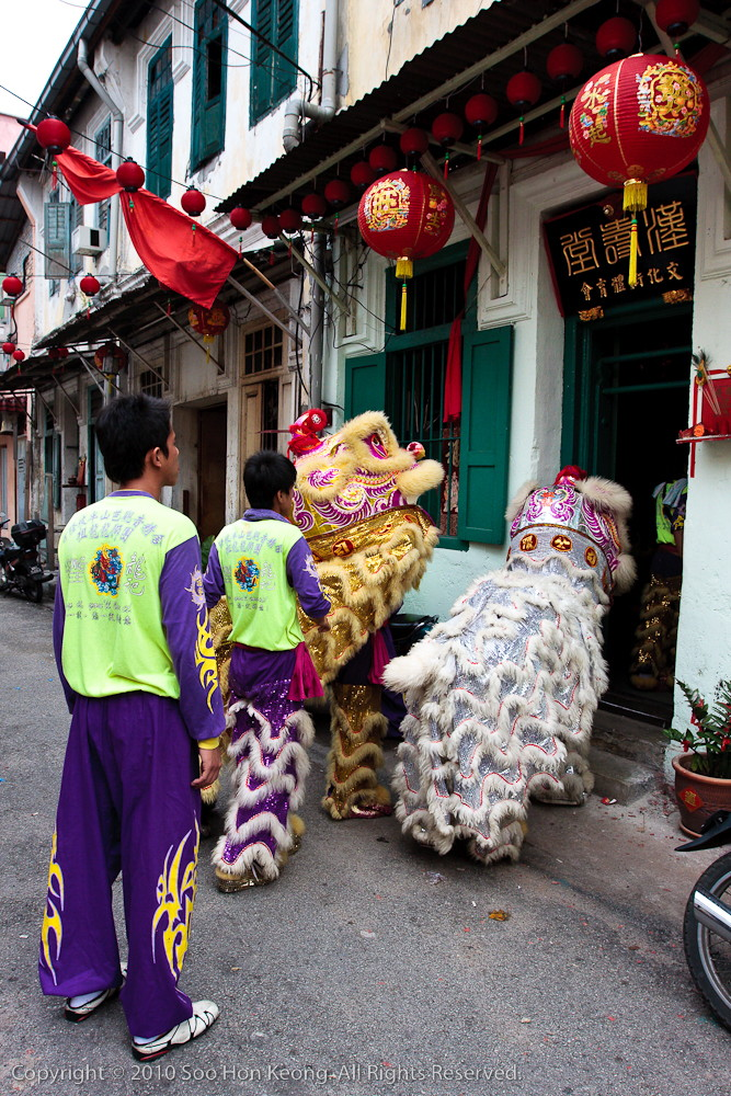 Lion Dance visiting house @ KL, Malaysia