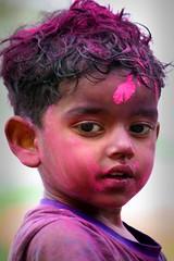 Coloured From Head to Toe! (kalsnchats) Tags: india colour festival spring delhi merriment joy holi hindufestival springfestival abeer kalpana chatterjee gular 450d coloredpowder riotofcolours kalsnchats kalpanachatterjee