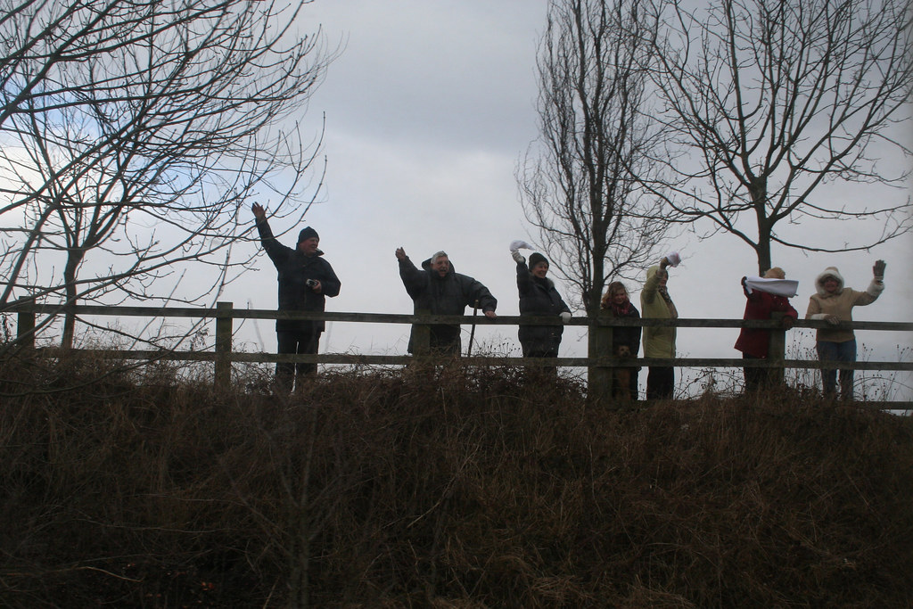 Wellwishers at the lineside