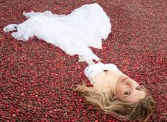 cranberry bog wedding photos with dress (beccadilley) Tags: wisconsin harvest bog cranberrymarsh strobist weddingfashion trashthedress