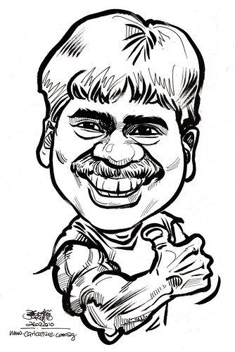Caricature for K C Dat -  Arul