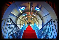 next generation (sediama (break)) Tags: blue red brussels architecture stairs belgium belgique pentax belgië bruxelles architektur brüssel atomium belgien royaumedebelgique expo1958 abigfave k20d sediama unusualviewsperspectives igp7915 ©bysediamaallrightsreserved