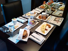 Breakfast in our suite at the Vdara