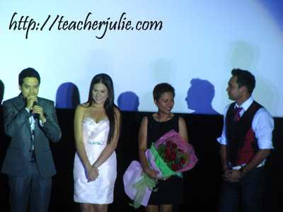 John Lloyd Cruz, Bea Alonzo, Cathy Garcia-Molina and another actor