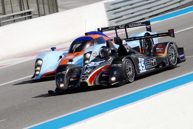 The Formula le Mans leads the Aston Martin