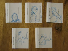 Sydney Padua's hand-drawn inlay cards