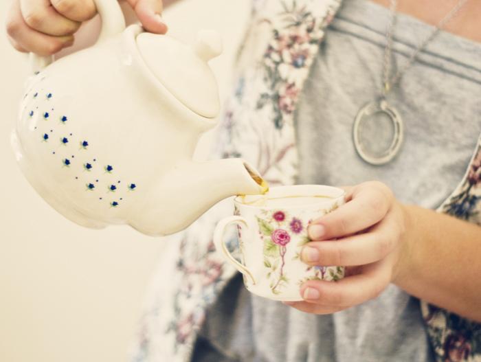 Nicole Pouring Tea