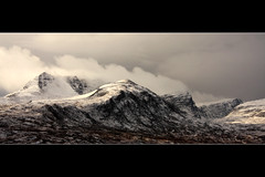 Ben More Coigach from Drumrunie (freeskiing) Tags: winter cloud snow mountains walking scotland moody january dramatic explore benmorecoigach dramaticcloud coigach highlandsofscotland drumrunie benthorburn northwesthighlandsgeopark