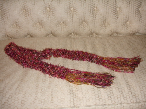 Putting Fringe on a Scarf