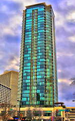 THE TOWER (Robert W. Howington) Tags: street urban photoshop nikon downtown sundance condos nikkor residential highlife hdr fortworth condominiums posteredges thetower photoshopelements sundancesquare restuarants thevault digitaldarkroom potbellysandwich qdobamexicangrill 3570mmf28d cantinalaredo nx2 d700 redynamix dcetools capturenxnx