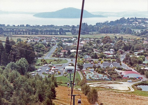 Skyline cable cars Rotorua New Zealand 1991