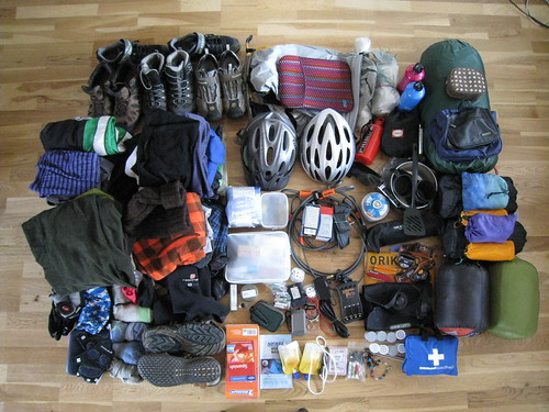 Touring gear layout