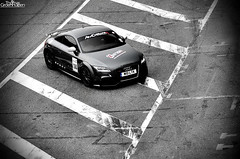 TTRS (ThomasGroenhuijsen) Tags: auto park bw white black color cars car nikon colours thomas stripes sigma automotive tt autos audi 1770 circuit rs zandvoort colouring sportscar selective paddock pitlane carspotting d90 cpz 2845 autogespot thomasgroenhuijsen groenhuijsen ttrs