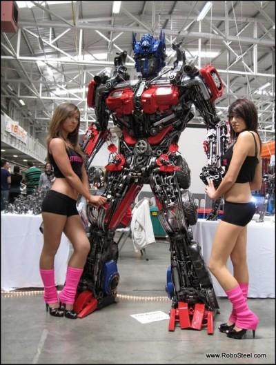 8' Tall Scrap Metal Optimus Prime