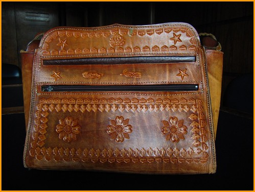 tooled leather bag
