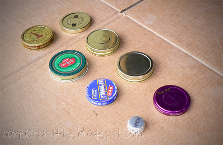 glass jar lids organization