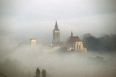 1985 Foggy Morning (beranekp) Tags: morning castle church nebel czech religion foggy iglesia kirche chiesa igreja schloss église bohemia zámek kostel sázava εκκλησία ეკლესია եկեղեցի