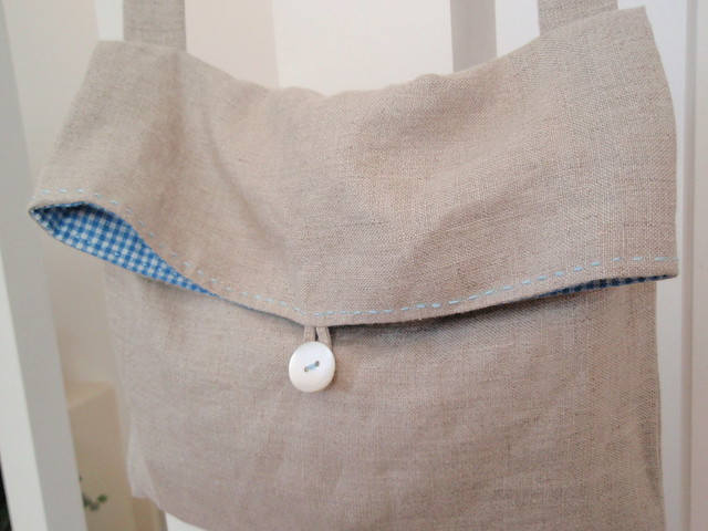 Simple Linen Gingham Bag