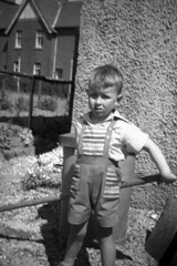 Image titled Ian Ross ? born 1955 outside family home in Kirkintilloch, 1958.
