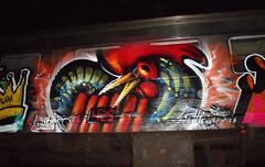 metal_chix (BREakONE) Tags: train de effects graffiti gallo break grafiti character apocalypse graffity colored characters 2009 afx galo barcelos cfs galos fanatix breakone