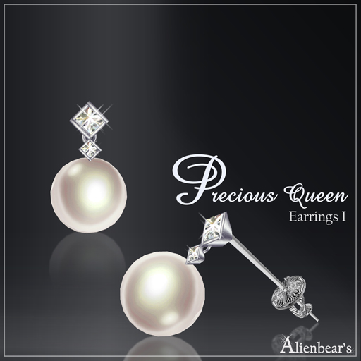 Precious Queen Earrings I white