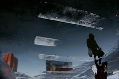 _ (Anton Anisimov) Tags: color reflection canon mirror moscow echo asphalt twop otherside 500d россия весна зебра асфальт цвет женщина лужа отражение здание переход интересно пешеход необычно antonpick