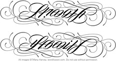 """Strength"" & ""Serenity"" Ambigram"