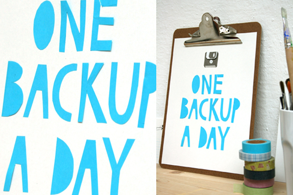 one backup a day