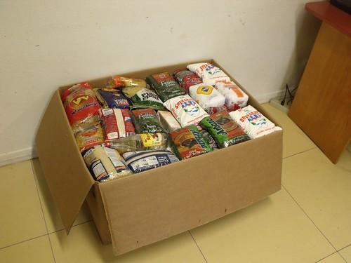 Alimentos foram entregues nesta sexta-feira. Crédito: Divulgação
