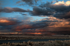 The Arizona Sky works It's Magic (Pete Zarria) Tags: california road trip travel sunset vacation arizona newmexico sign route66 motel holbrook winslow barstow