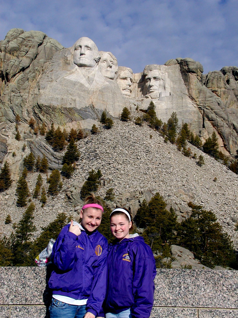 Mt. Rushmore with the girls