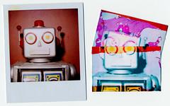 Failed pogoed polaroid manipulation (AndyWilson) Tags: polaroid robot manipulation 600 instant slr680 pogo zink fail