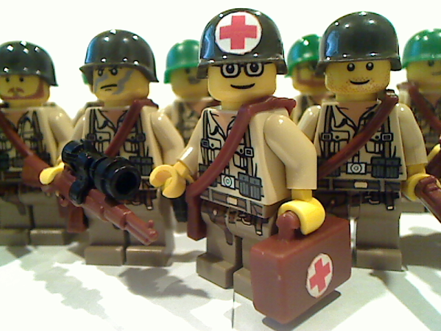 Omaha Beach Lego Medic Sticker