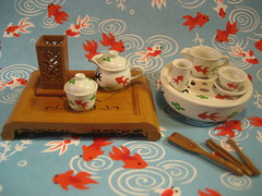 Re-ment Chinese Tea Set 7/365 (chibiko1) Tags: goldfish tea chinese rement chinesetea arad washi