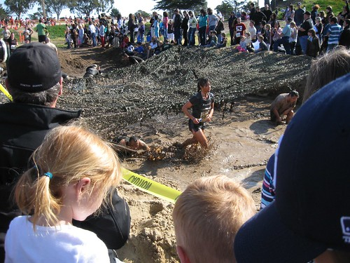 Racers slog through the mud