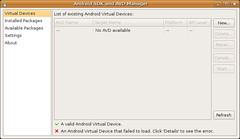 Pantallazo-Android SDK and AVD Manager -2