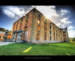 The Penitentiary in Port Arthur, Tasmania :: HDR (Artie | Photography :: I'm a lazy boy :)) Tags: building brick history field grass port photoshop canon vintage arthur ruins shine cs2 tripod wideangle structure tasmania hobart 1020mm hdr 1854 penitentiary artie portarthur 3xp sigmalens photomatix tonemapping tonemap 400d rebelxti eagleneckhawk