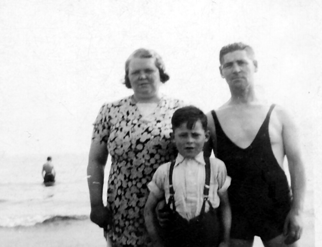 Jenny and Peter Smith With Their Son Jack 1930s
