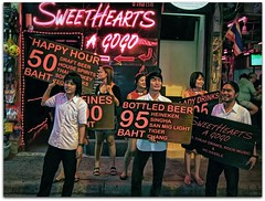 Sweet Hearts A Go-Go | Pattaya Walking Street | Thailand (I Prahin | www.southeastasia-images.com) Tags: pink girls students beer bar thailand neon girly famous tourist virgin drinks alcohol thai sweethearts gogo russian prostitutes sleazy russians hookers pattaya teenage walkingstreet poledancing barfine bargirls savedby