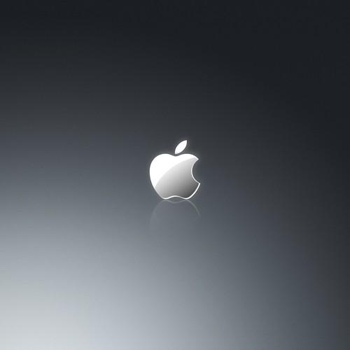 Apple Grey iPad Wallpaper