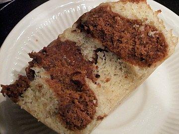 Mocha-Pecan Marbled Bundt Cake