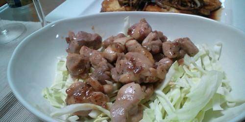 鶏肉と梅肉ソース