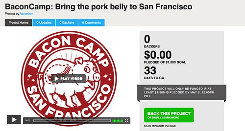 BaconCamp on kickstarter