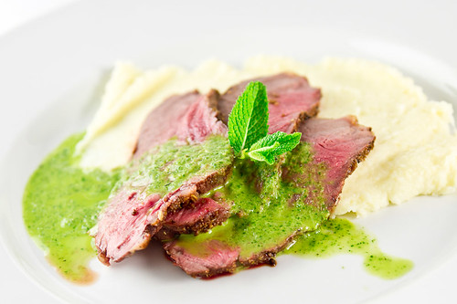 Quick Roast Lamb With Mint Sauce