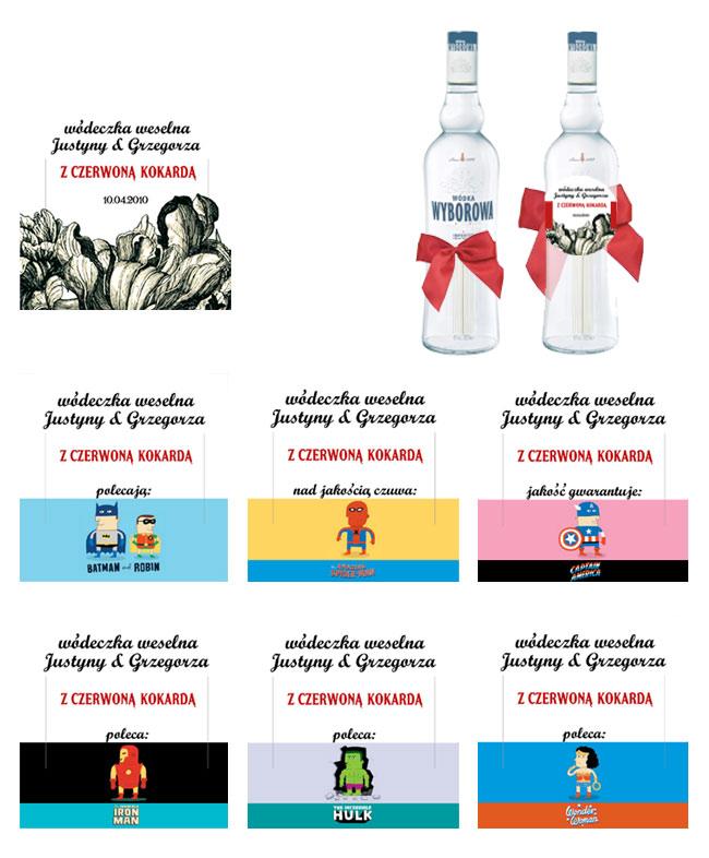 Justyna & Grzegorz – etykiety na wódkę